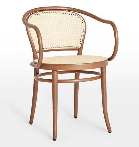 Ton 33 Caned Arm Chair - Rejuvenation