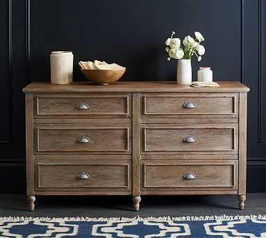 Astoria Extra Wide Dresser, Rosedale Brown - Pottery Barn