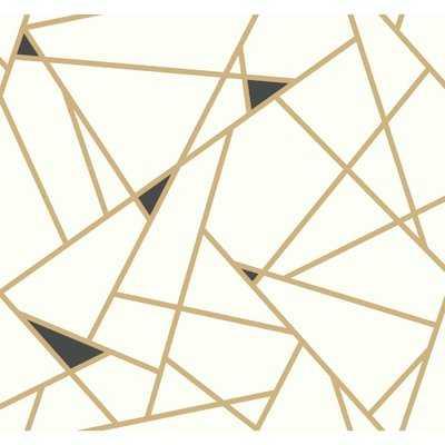 "Risky Business II Prismatic Removable 27' x 27"" Wallpaper Roll - AllModern"