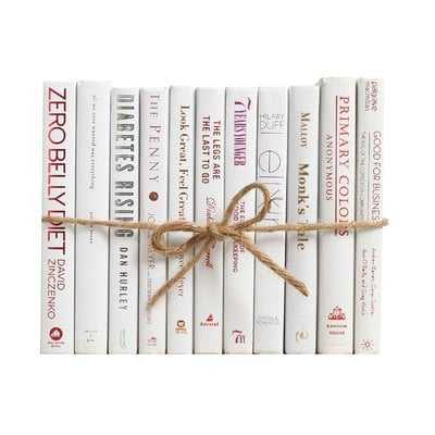 Authentic Decorative Books - By Color Modern Snowfall ColorPak (1 Linear Foot, 10-12 Books) - Wayfair