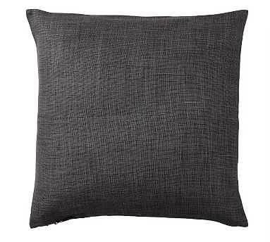 "Libeco Linen Pillow Cover, 24"", Charcoal - Pottery Barn"