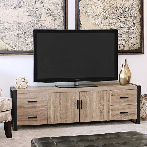 Urban Blend Driftwood 4-Drawer TV Stand Console - Style # 1W401 - Lamps Plus