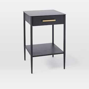 Metalwork Nightstand, Hot-Rolled Steel Finish, Antique Brass-Individual - West Elm