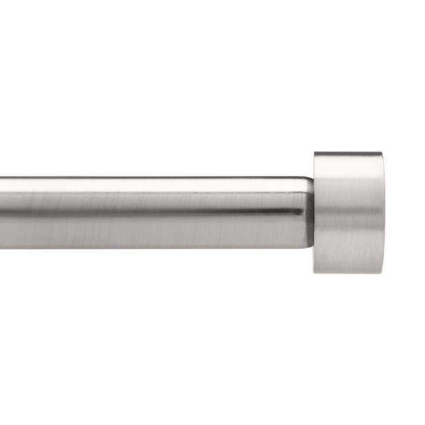 Umbra Cappa 3/4 in. Dia Rod 72 in. - 144 in. in Nickel/Steel - Home Depot