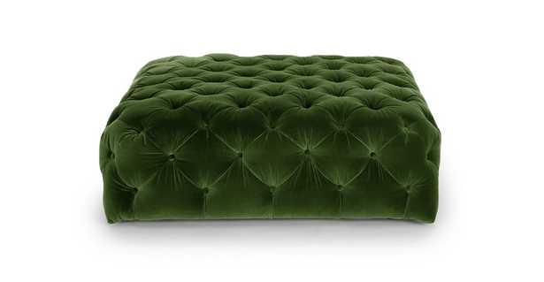 Diamond Grass Green Ottoman - Article