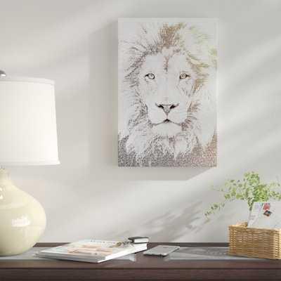 'The Intellectual Lion' Graphic Art Print on Canvas - Wayfair