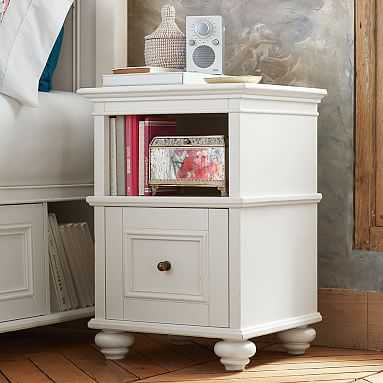 Chelsea Bedside Table, Simply White - Pottery Barn Teen