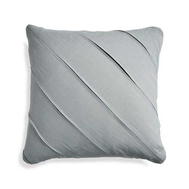 "Theta Grey Linen Pillow Cover 20"" - Crate and Barrel"