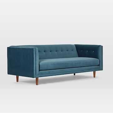 Bradford Sofa, Mod Velvet, Port Blue - West Elm