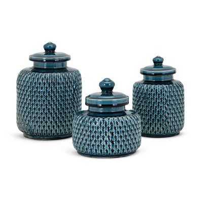 Mariah 3 Piece Jar Set - Wayfair