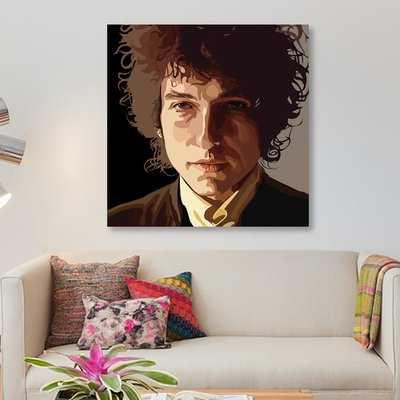 'Bob Dylan' Graphic Art Print on Canvas - Wayfair