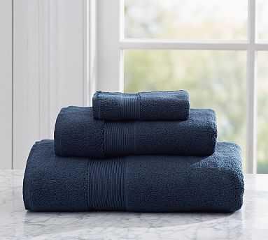 PB Classic Organic Towels, Hand, Navy - Pottery Barn