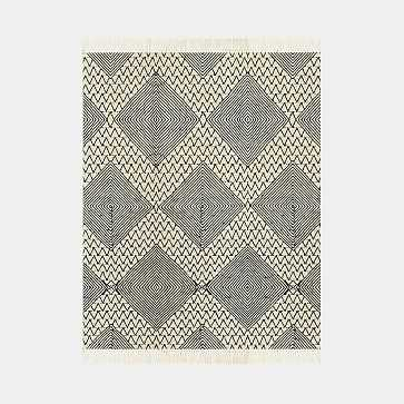Traced Diamond Made to Order Rug, Iron, 8'x10' - West Elm