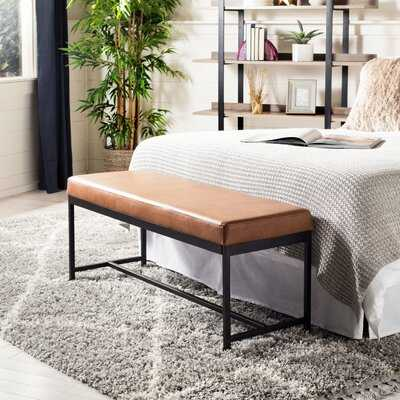 Saddle Faux leather Bench RESTOCK IN AUG 1,2021 - Wayfair