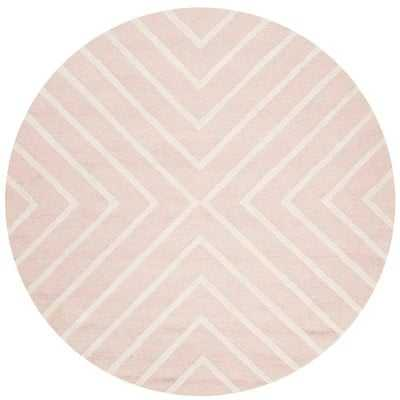 Brenner Geometric Handmade Tufted Wool Pink/Ivory Area Rug - AllModern