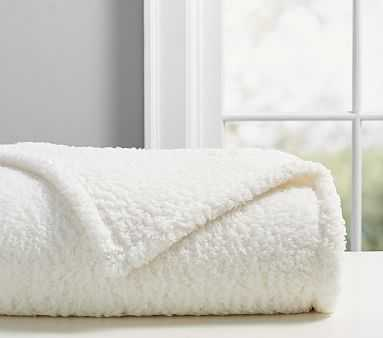 Sherpa Bed Blanket, Twin, Ivory - Pottery Barn Kids