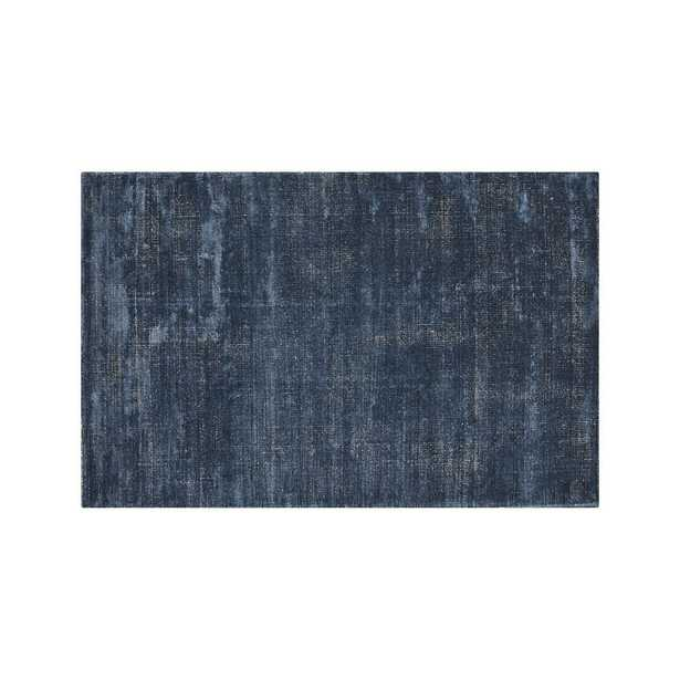 Vaughn Modern Blue Rug 6'x9' - Crate and Barrel