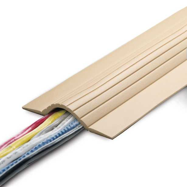 5 ft. Cable Blanket Low Profile Cord Cover and Protector for Floor in Beige - Home Depot