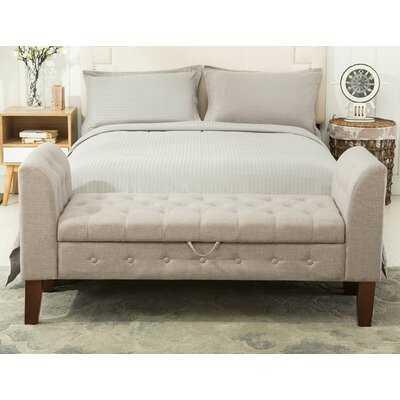 Battle Upholstered Storage Bench - Wayfair