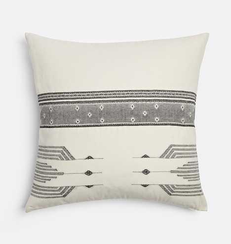 Woven Black and White Pillow Cover - Rejuvenation