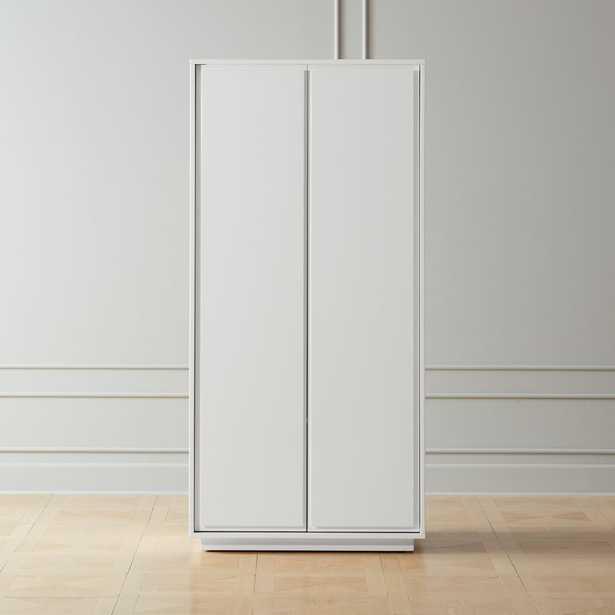 Gallery White 2-Door Wardrobe - CB2