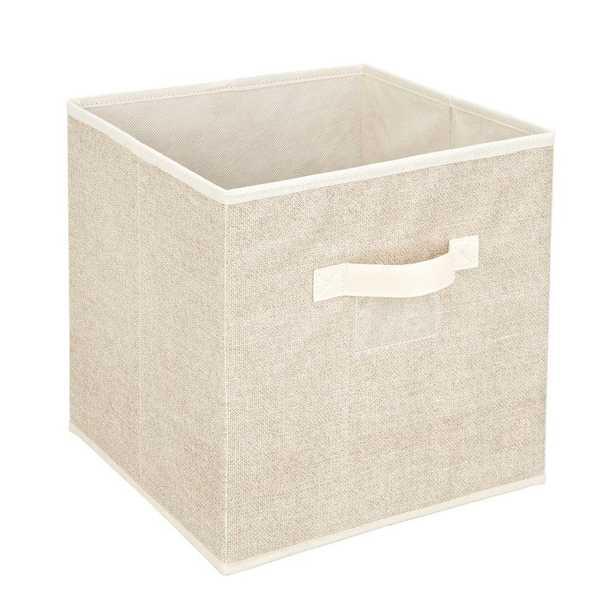 12 in. x 12 in. Faux Jute Storage Box Cube Bin - Home Depot