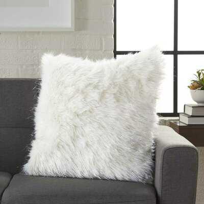 Suzuki Solid White Throw Pillow - Wayfair