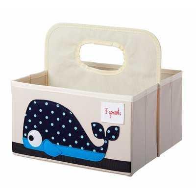 Whale Diaper Caddy Fabric Basket - Wayfair