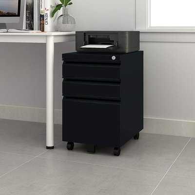 Hammontree 3 Drawer Mobile Vertical Filing Cabinet - Wayfair