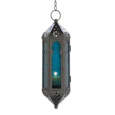 Cobalt Cathedral Hanging Lantern - AllModern