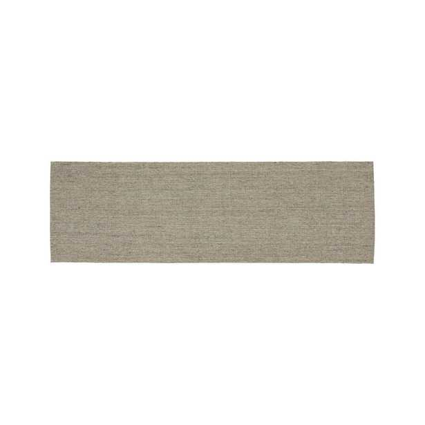Sisal Heritage Taupe Rug Runner 2.5'x8' - Crate and Barrel