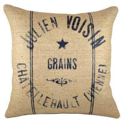 Indianola Burlap Throw Pillow - Birch Lane