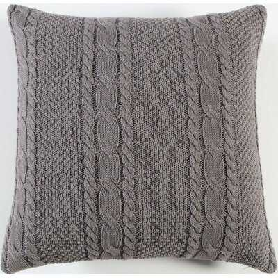 Doherty Cable-Knit Pillow Cover - Wayfair