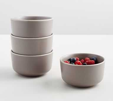 Mason Berry Bowl, Set of 4 - Graphite Gray - Pottery Barn