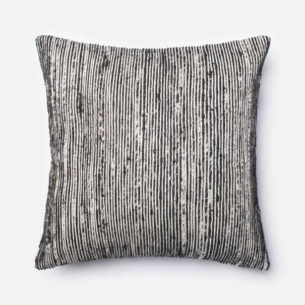 """PILLOWS - BLACK / MULTI - 22"""" X 22"""" Down Filled - Loma Threads"""