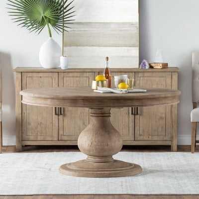 One Allium Way Orear Pine Dining Table - Wayfair