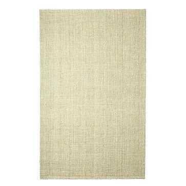 Jute Boucle Rug, 8'x10', Ivory - West Elm