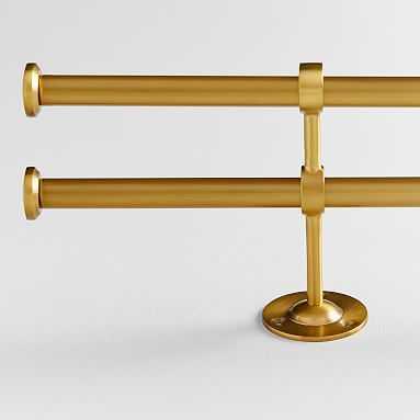 """Classic Steel Double Rod, Brass, 48''-88'' .75"""" - Pottery Barn Teen"""