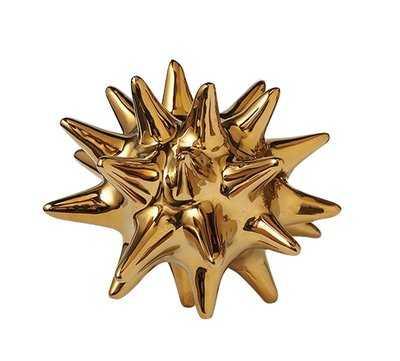 Aster Urchin Shiny Gold Object - Wayfair