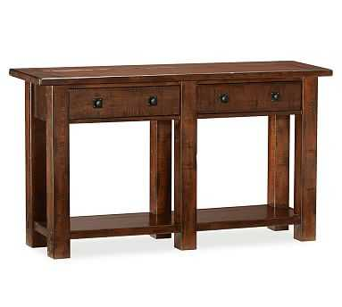 Benchwright Console Table, Rustic Mahogany stain - Pottery Barn