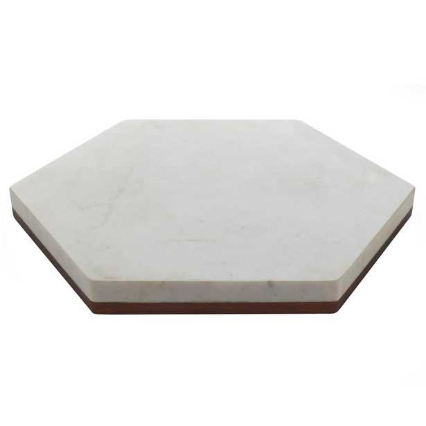 Urban Story Wood and Marble Flip Tray - Home Depot