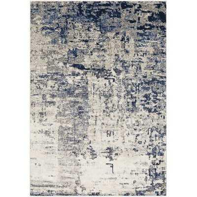 Royalston Modern Abstract Navy/Ivory Area Rug - Wayfair