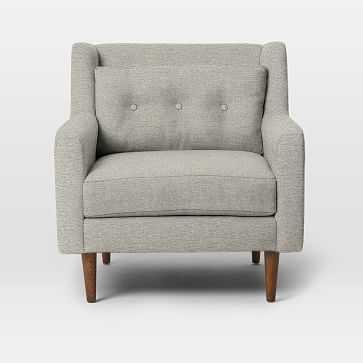 Crosby Arm Chair, Twill, Stone - West Elm