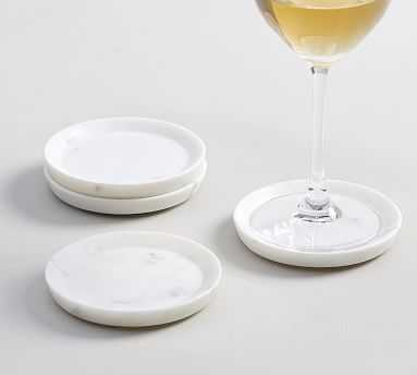 White Marble Coasters - Pottery Barn