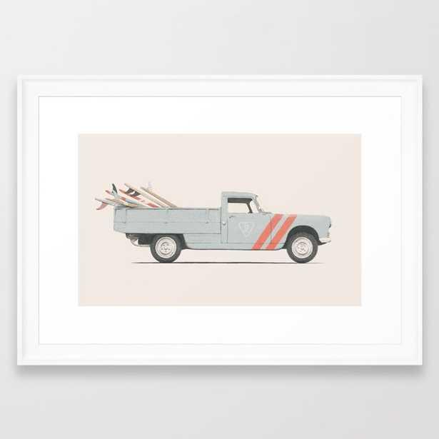 Surfboard Pick Up Van Framed Art Print by Speakerine - Society6