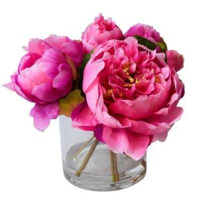 Fresh Cut Peony Floral Arrangements in Jar - AllModern