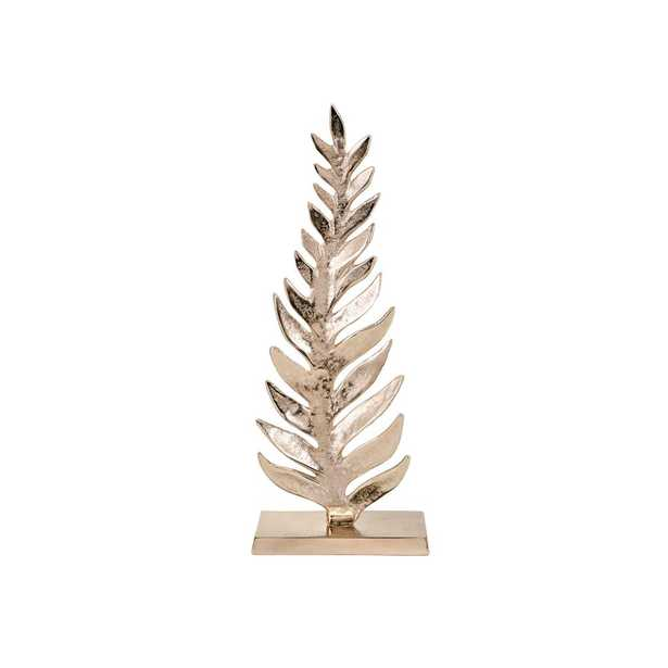 Imax Carrolton Small Leaf Sculpture, Gold - Home Depot