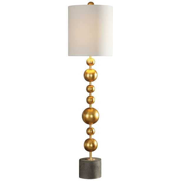 Selim Metallic Gold Leaf Stacked Spheres Buffet Table Lamp - Style # 41C53 - Lamps Plus