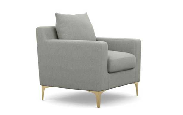 Sloan Petite Chair with Ecru Fabric and Brass Plated legs - Interior Define
