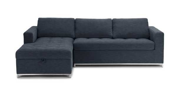 Soma Midnight Blue Left Sofa Bed - Article